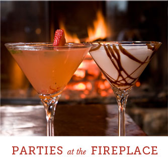 Parties catered by Fireplace